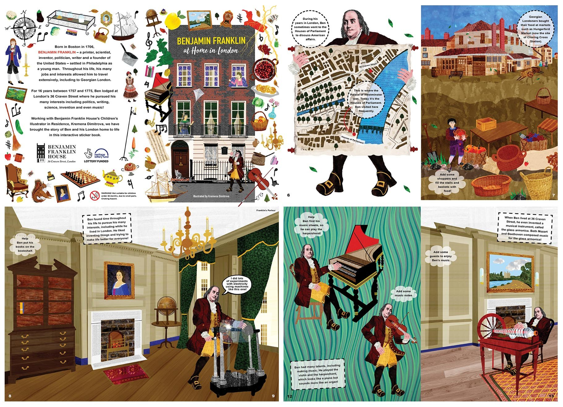 National Lottery Heritage Funded sticker book