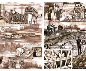 Graphic Novel spreads